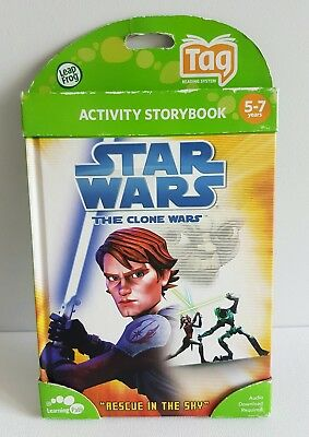 Leap Frog TAG LEARNING SYSTEM - STAR WARS The Clone Wars Activity Storybook NEW
