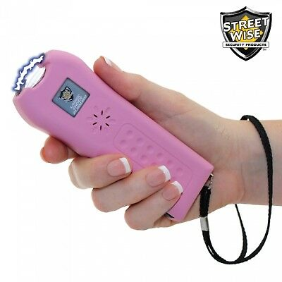 Streetwise Rechargeable Sting Ring 18,000,000 BLACK Stun Gun With Key Ring