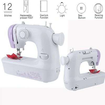 Portable Mini Electric Sewing Machine Hand Held Household Tailor 2 Speed-BE
