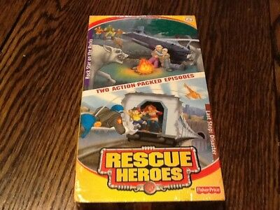 Rescue Heroes Fisher Price New Vhs Rock Stars The Rocks Last Stop Disaster Kids