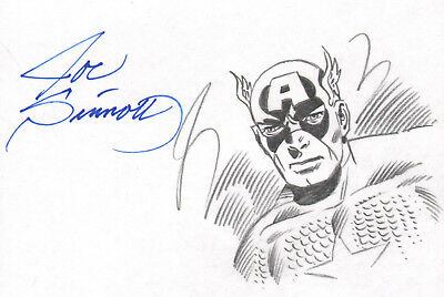 Joe Sinnott 2017 Captain America Original Art-Signed By Joe!
