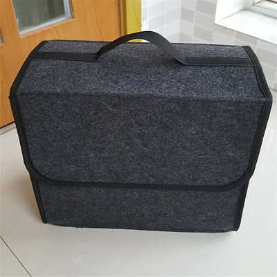 Folding Felt Car SUV Organizer Storage Bag Travel Boot Box Trunk Accessories 1x