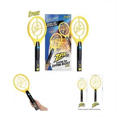 Bug Zappers Zap It Twin Pack Rechargeable Mosquito, Fly Killer And Racket 4000