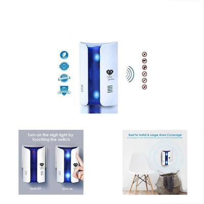 Repellents Ultrasonic Pest Repeller Indoor Outdoor Bug Control Home Indoor Safe