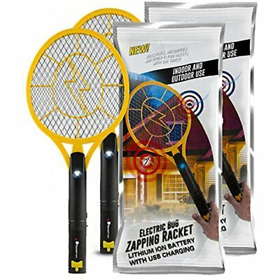 Bug Zappers Beastron Rechargeable Mosquito, Fly Killer And Racket, 3000 Volt Usb