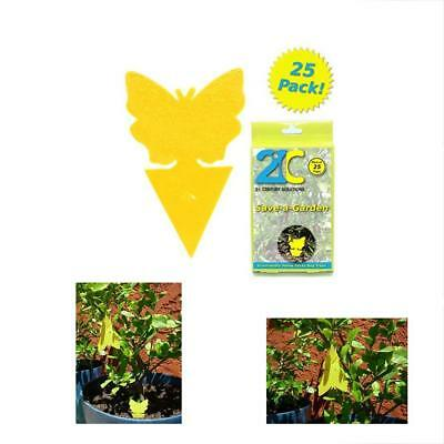 Traps 21C Yellow Dual Sticky Fly (25 Pack) For Gnat Whitefly Fungus Leafminer