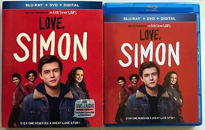 Love Simon Blu Ray Dvd 2 Disc Set + Slipcover Sleeve Free World Wide Shipping