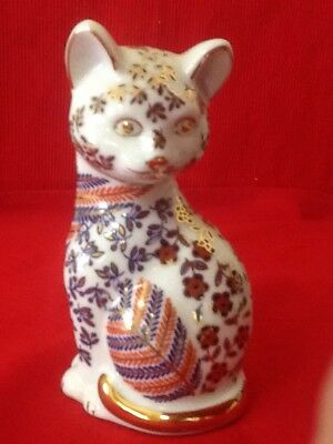 Vintage IMARI Style Gilded Ornate Cat - Mint Condition- Purrfect Gift/ SALE ON