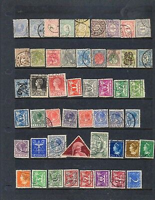 About 100 mostly small stamps from the Netherlands - see scans