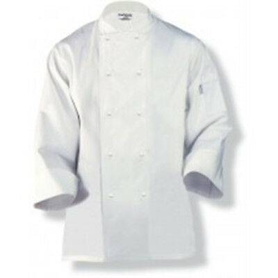 Chef Coat Jacket White Long Sleeve Murray Chefworks Hospitality Cook Extra Small