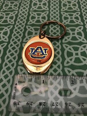 Auburn University Vintage Solid Polished Brass Sports Keyring FOB FREE SHIPPING