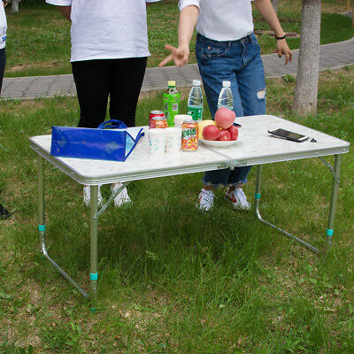 Folding Table Portable Plastic Indoor Outdoor Picnic Party Dining Camp Tables US