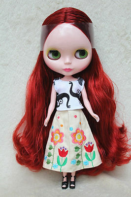 """12/"""" Neo Blythe doll nude Takara doll from factory copper red hair Y04 limit sale"""