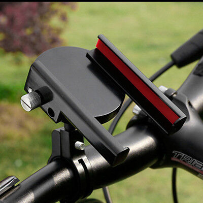 Black Aluminium Motorcycle Bicycle MTB Handlebar Mount Clamp Phone GPS Holder 1x