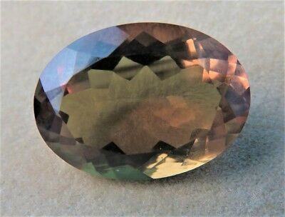 Large Oval Loose Alexite Amber/Green Stone Colour Change Ring Gem Jewellery
