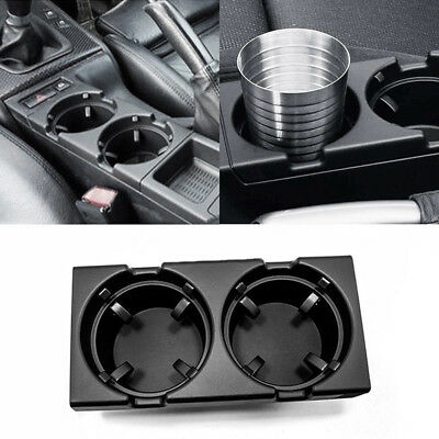 Front Center Console Dual Drink Cup Holder Black Fits BMW E46 3 Series 99-05 UDW