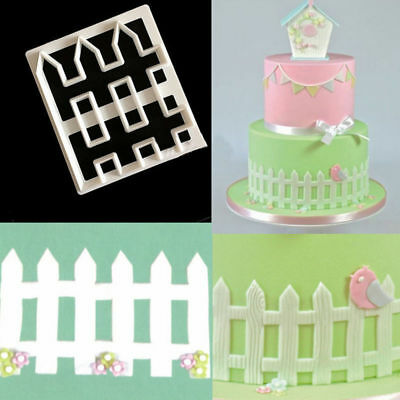 Fence Cookies Cutter Fondant Cake Mold Tool Cupcake Icing Sugarcraft Mould Decor