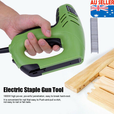220V 1800W Electric Staple Gun Straight Nail 10-14mm/U Nail 6-14mm Woodworking
