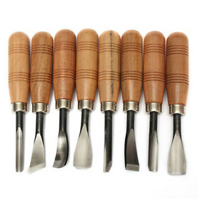 PGM 8pcs Wooden 150mm Dual Bevel Groove Carving Dovetail Marking Knife Steel Set