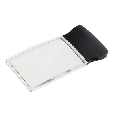 Reading Magnifier Rectangular LED Lighted Magnifying Glass 2X Magnification