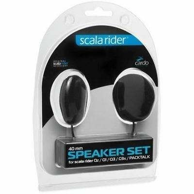 Cardo 40mm Thin & Wide Speaker Set for Scala Rider Freecom 4+ 2+ G9x QZ Q1
