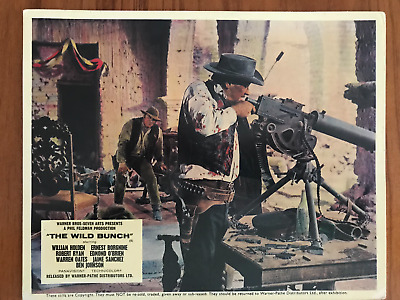 The Wild Bunch Set Of 8 Lobby Cards Original Warner-Pathe Uk 1969 William Holden