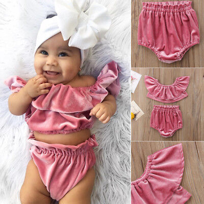 New Baby Girls Clothes Kids Girl Infant  Clothing Suits Outfits Sets Top+Pants