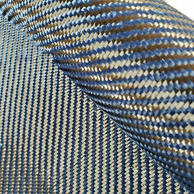 Blue Aramid Carbon Fiber Blended Fabric 200gsm Carbon cloth 50cm*100cm