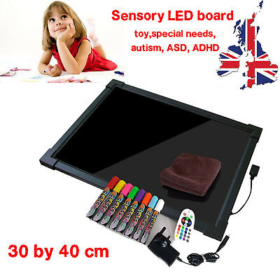 Sensory LED light up drawing/writing board toy for special need, autism, ADHD UK