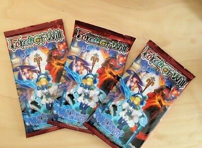 3 PACKS Force of Will Curse of the Frozen Casket Lapis Cluster Booster Pack TCG