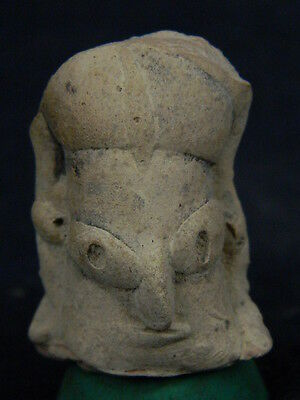 Ancient Teracotta Mother Goddess Head Indus Valley 2000 BC  No Reserve  #TR505