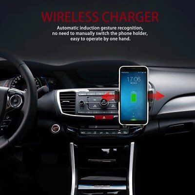 Automatic Clamping Infrared Wireless Car Fast Charger Magnetic Mount HoldHG