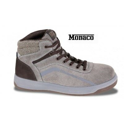 Shoes High In Suede Leather Brown Monaco 7368Um