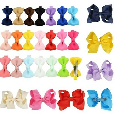 20pcs Pack Kids Baby Girl Toddler Flowers Hair Clip Snap Slide Bow Accessory Set