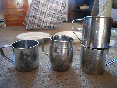 4 Wild Bill's Olde Fashion Soda Pop Stainless Mugs, 5Th Anniversary And 2014