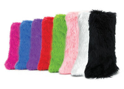 Funky Faux Fur Yeti Adult Boot Sleeves - COLOR Choices by PleaserUSA
