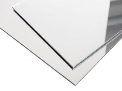 Acrylic Silver Mirror Sheet 3mm Thickness Aus Stock Laserable Sign FREE SHIP