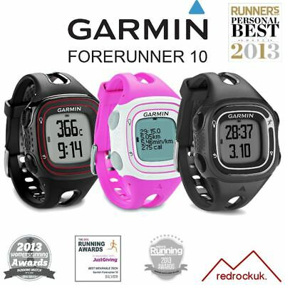 Garmin Forerunner 10 GPS Sports Running Watch -  Blk/Red, White/Pink, Blk/Silver