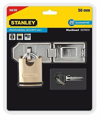 Stanley HASP & STAPLE 40 mm Shrouded Heavy Duty Padlock Kwikset Series Pro DOWD