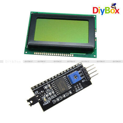 5V 12864 Yellow Green LCD Display 128x64 1602LCD IIC/I2C/SPI Serial for Arduino