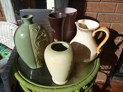 6 Vases bulk lot  Home Decor mix and match