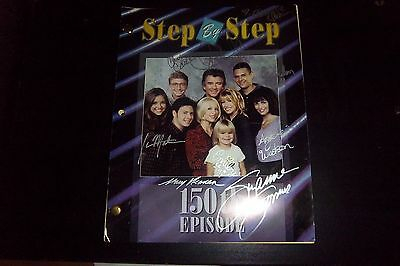 STEP BY STEP CAST (SIGNED X9) SCRIPT 150th EPISODE SUZANNE SOMERS PATRICK DUFFY