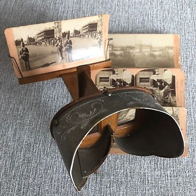Stereobeobachter, Stereoview,  Stereoscope, 3D, Vintage, 19. Jhd + 15 Orig.Fotos
