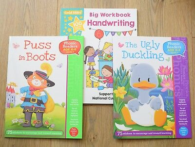 Reception Year 1 Books help with Phonics Reading Writing Letters Children 4 5 6