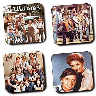 The Waltons TV Series - Waltons - Coasters - Set of 4 - Wood Coasters - Gifts