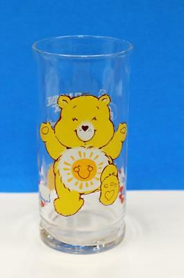 "Vintage Care Bear Glass ""Funshine Bear"" 1983 Limited Edition Pizza Hut Collector"