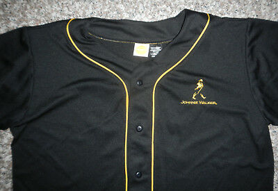 Johnnie Walker Whiskey Baseball Style Jersey #12 Shirt Adult Size LARGE