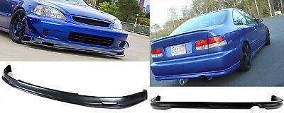 For 1999 2000 Honda Civic 2 4 DR MG Urethane Front Bumper Lip Spoiler