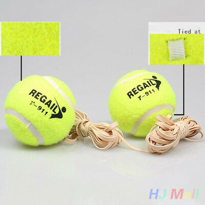 Sports Tennis Training Ball With Rubber Rope Beginners Single Train Tool