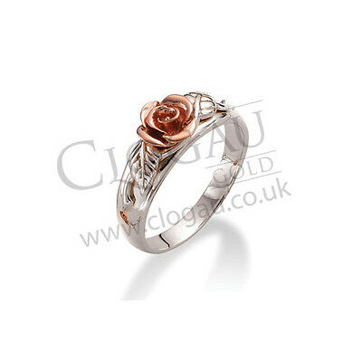 BRAND NEW Official Clogau Silver & Rose Gold Royal Roses Ring £70 off! SIZE L